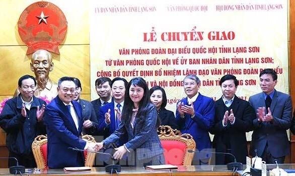 Bổ nhiệm lãnh đạo văn phòng đoàn đại biểu quốc hội và HĐND tỉnh Lạng Sơn  - ảnh 1