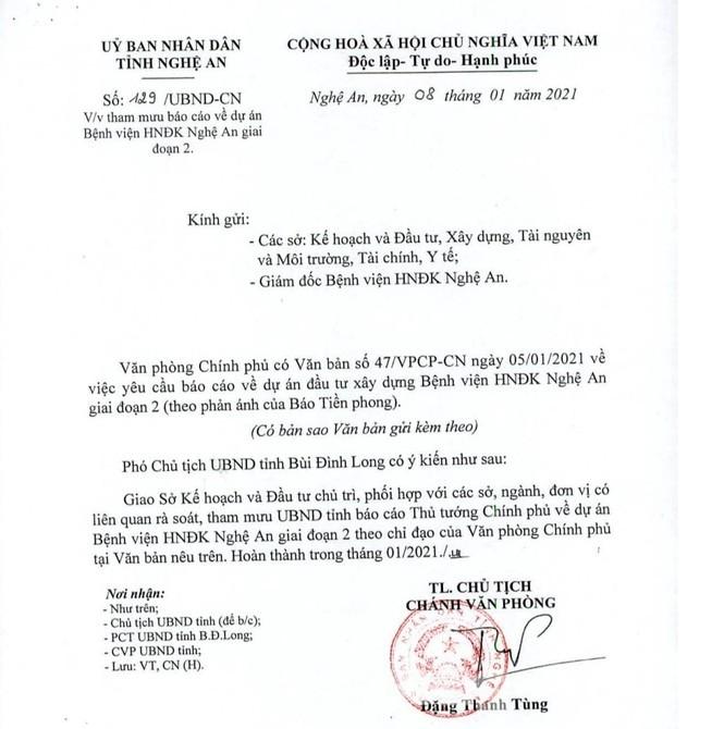Thủ tướng Chính phủ yêu cầu Nghệ An báo cáo Dự án Bệnh viện nghìn tỷ chậm tiến độ - ảnh 2