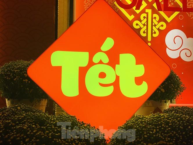 Đường phố TPHCM lung linh trang trí trâu vàng đón Tết Tân Sửu - ảnh 6