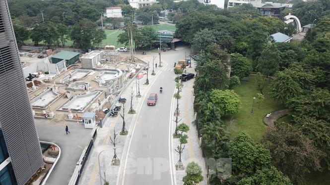 Hàng loạt cây trồng chết khô trên trục đường Cầu Giấy - Dương Đình Nghệ - ảnh 1