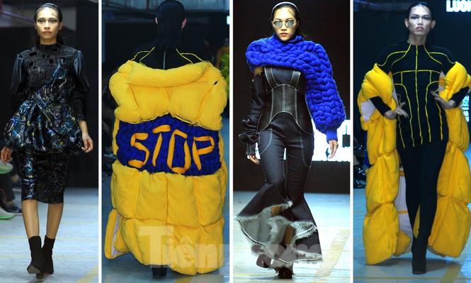 Sinh viên thiết kế thời trang phản ánh giao thông, môi trường - ảnh 4