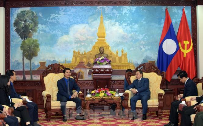 Ban Bí thư T.Ư Đoàn làm việc với Đại sứ quán Lào về hợp tác thanh niên - ảnh 2