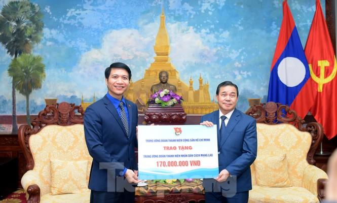 Ban Bí thư T.Ư Đoàn làm việc với Đại sứ quán Lào về hợp tác thanh niên - ảnh 3