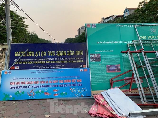 Vì sao bất ngờ tháo dỡ khu thí điểm làm sạch nước sông Tô Lịch? - ảnh 3