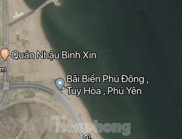 Google Maps gỡ bỏ thông tin sai về bãi biển Tuy Hoà - Phú Yên - ảnh 1