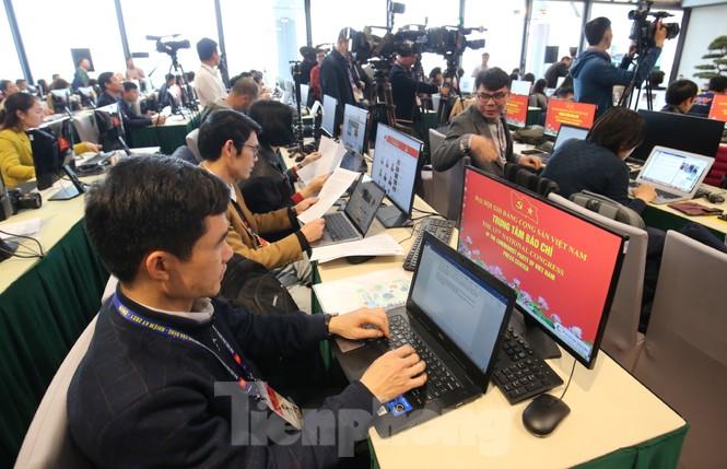 Bên trong Trung tâm báo chí phục vụ Đại hội XIII của Đảng - ảnh 3