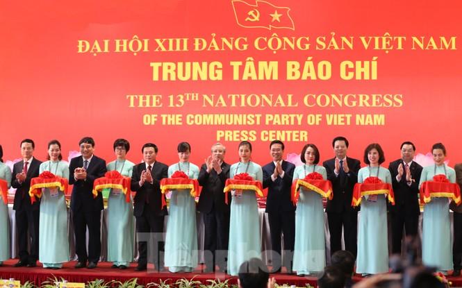 Bên trong Trung tâm báo chí phục vụ Đại hội XIII của Đảng - ảnh 1