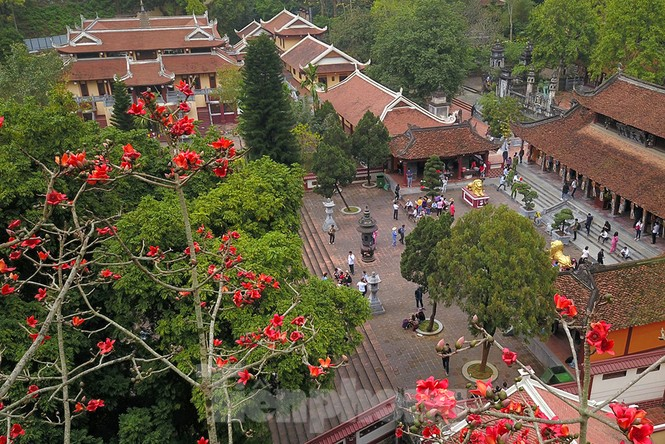 Trẩy hội chùa Hương, ngẩn ngơ ngắm hoa gạo 'thắp lửa' bên suối Yến - ảnh 5