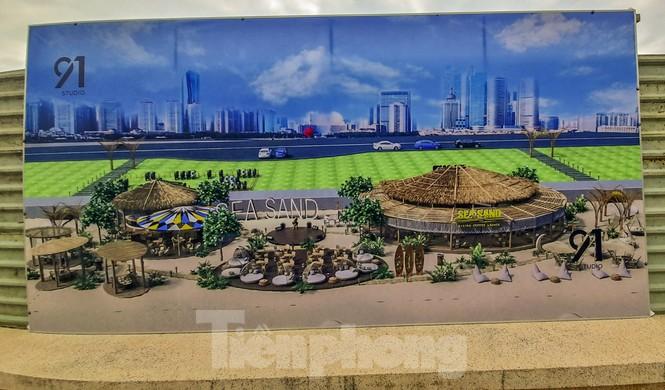 Dừng thi công dự án quán cà phê trên bờ biển Quy Nhơn - ảnh 1