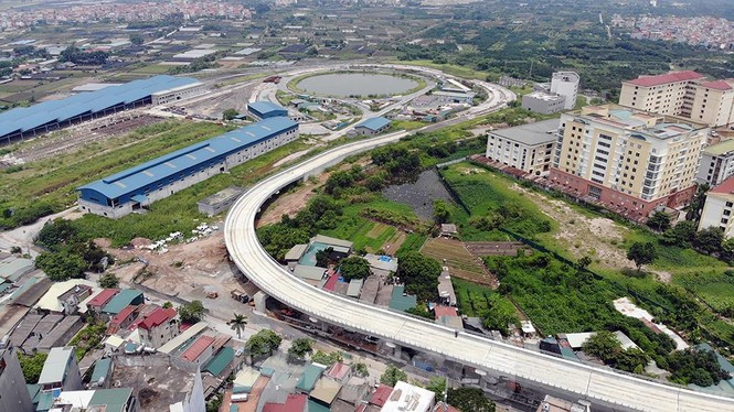 Hình hài đường sắt Nhổn - Ga Hà Nội sau 2 năm chậm tiến độ - ảnh 2