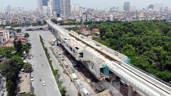 Hình hài đường sắt Nhổn - Ga Hà Nội sau 2 năm chậm tiến độ - ảnh 8