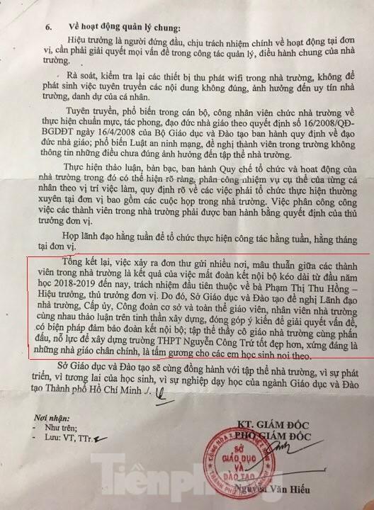 Phê bình lãnh đạo trường THPT Nguyễn Công Trứ vụ giáo viên bị tố sửa điểm học sinh - ảnh 2