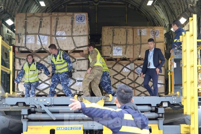 Cận cảnh vận tải cơ C-17A chở bác sĩ mũ nồi xanh Việt Nam sang Nam Sudan - ảnh 6