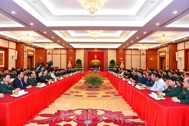 Tổng Bí thư, Chủ tịch nước gặp mặt điển hình xây dựng nền quốc phòng toàn dân - ảnh 5