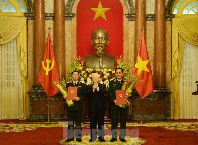Hai Thứ trưởng Quốc phòng được thăng quân hàm Thượng tướng  - ảnh 1