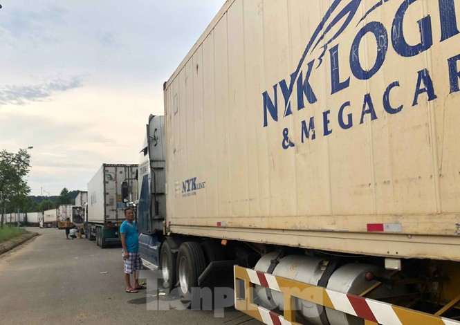 Trung Quốc dùng máy soi hàng, hàng trăm xe container Thanh Long ùn ứ ở cửa khẩu - ảnh 9