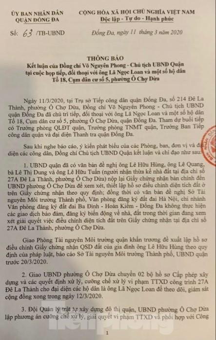 Vụ chết vẫn xác nhận đất đai ở Hà Nội: Thu hồi và phong toả 'sổ đỏ' cấp sai - ảnh 1