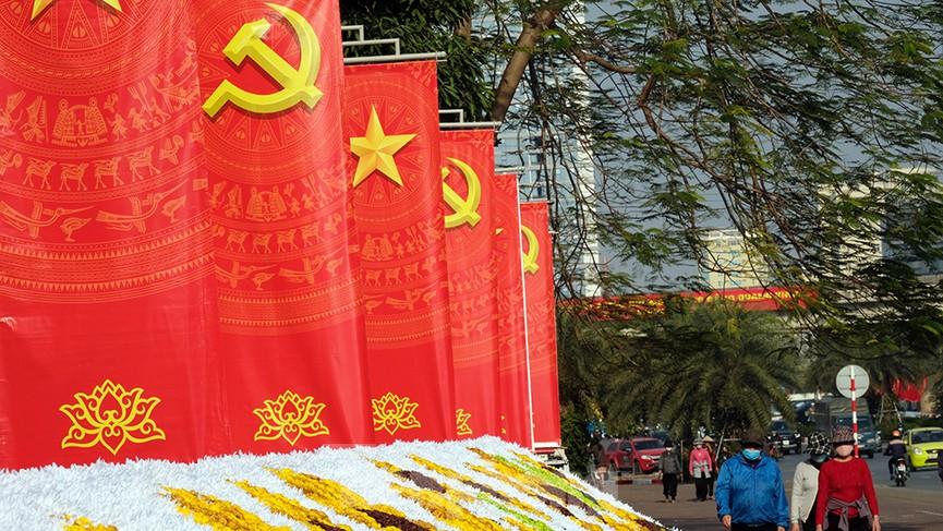 Trung tâm Hội nghị Quốc gia trang hoàng chuẩn bị Đại hội lần thứ XIII của Đảng - ảnh 8