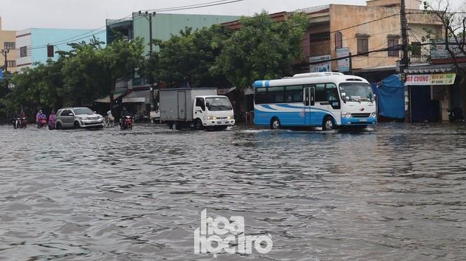 Đà Nẵng: Mưa như trút nước, đường phố thành sông, người dân vô tư bắt cá giữa đường - ảnh 3