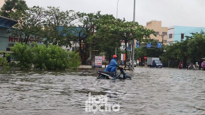 Đà Nẵng: Mưa như trút nước, đường phố thành sông, người dân vô tư bắt cá giữa đường - ảnh 1