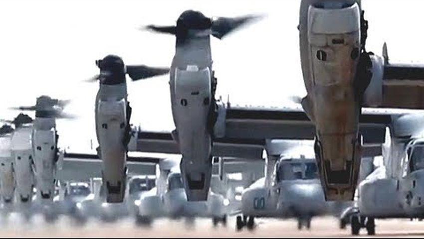 Hơn 40 trực thăng quân sự Mỹ tập trận 'voi đi bộ'