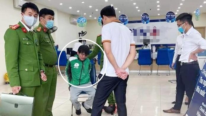 Người đàn ông nghi dùng súng cướp ngân hàng tại Hà Nội