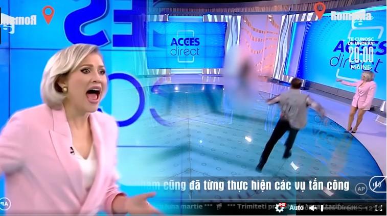 Showbiz 24/3: MC bị người phụ nữ khỏa thân ném đá khi đang dẫn trực tiếp trên truyền hình