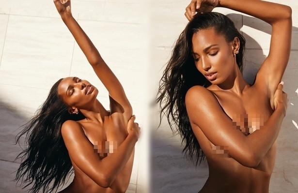Thiên thần nội y Jasmine Tookes bán nude đầy quyến rũ