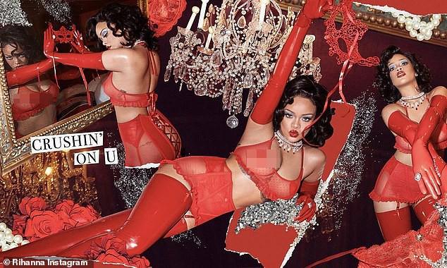 Rihanna diện nội y xuyên thấu ''nảy lửa''