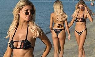 Gái xinh của show 18+ Too Hot to Handle khoe dáng nảy nở ở biển