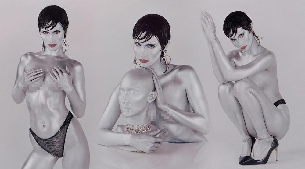 Bella Hadid khoe thể hình đẹp đáng kinh ngạc với ảnh bán nude