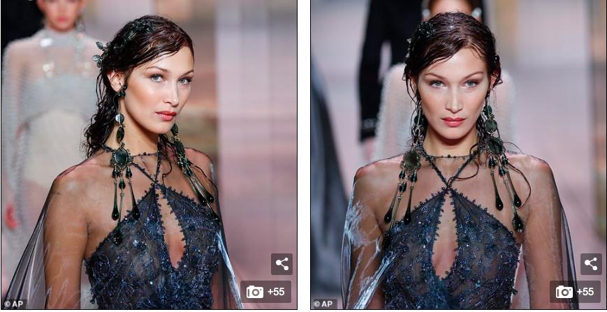 Siêu mẫu đắt giá Bella Hadid mặc xuyên thấu trình diễn thời trang