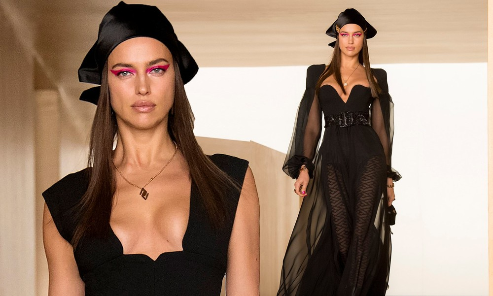 Siêu mẫu Nga Irina Shayk đẹp như nữ thần trên đường băng của Versace