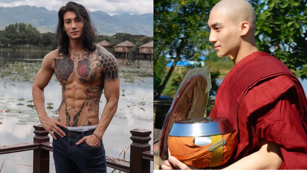 Mỹ nam được mệnh danh 'Aquaman châu Á' bất ngờ xuống tóc đi tu