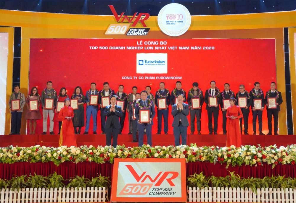 Eurowindow ghi danh vào Bảng xếp hạng 500 Doanh nghiệp lớn nhất Việt Nam 2020