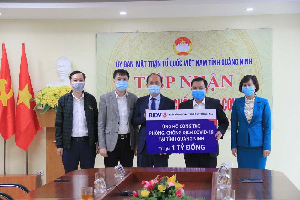 BIDV ủng hộ 4 tỷ đồng phòng chống dịch COVID-19 tại Hải Dương, Quảng Ninh
