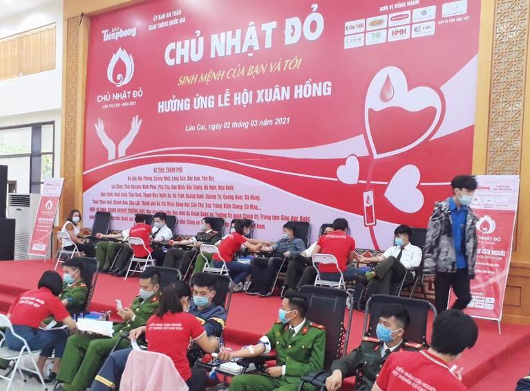 Chủ nhật Đỏ 2021 tại tỉnh Lào Cai vượt chỉ tiêu đề ra ban đầu