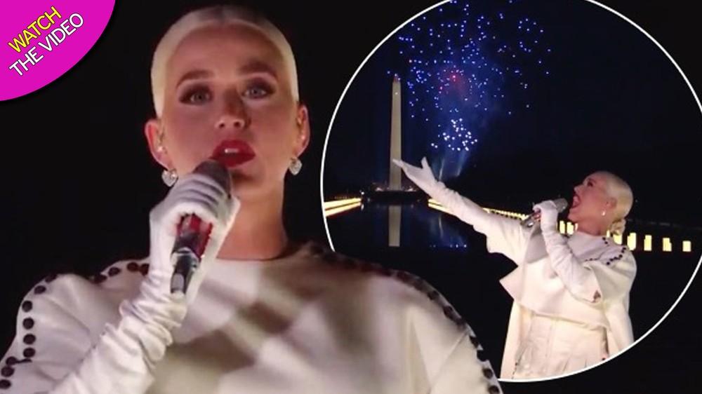 'Choáng ngợp' màn biểu diễn dưới pháo hoa của Katy Perry mừng tân Tổng thống Mỹ