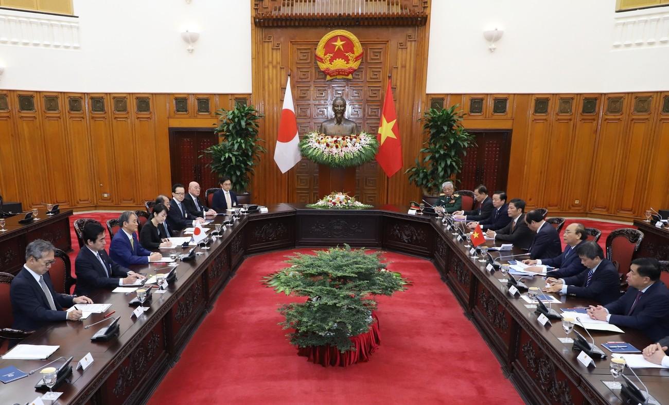 Thủ tướng Nguyễn Xuân Phúc chủ trì lễ đón thủ tướng Nhật Bản Suga Yoshihide ảnh 7