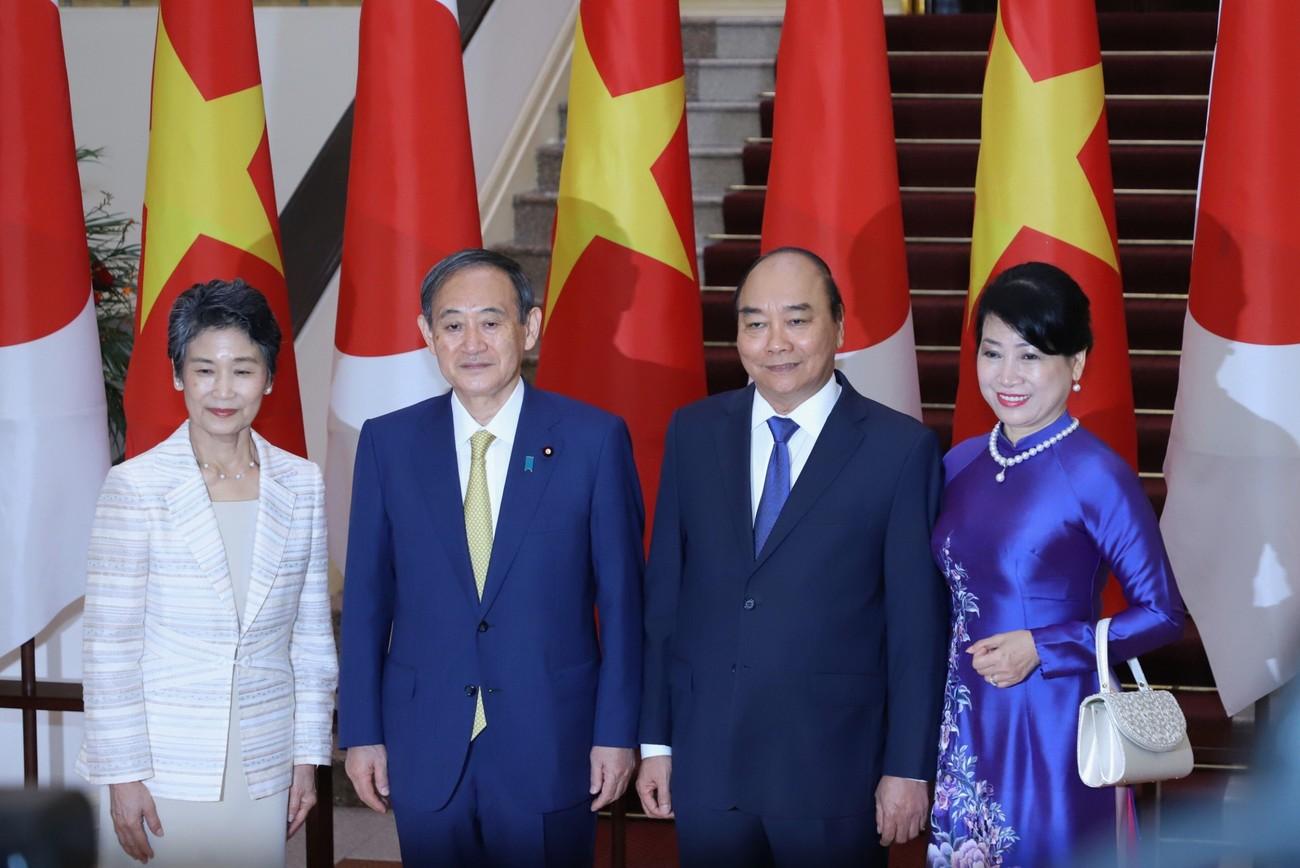 Thủ tướng Nguyễn Xuân Phúc chủ trì lễ đón thủ tướng Nhật Bản Suga Yoshihide ảnh 6