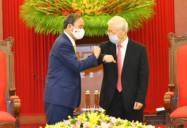 Tổng Bí thư, Chủ tịch nước Nguyễn Phú Trọng tiếp Thủ tướng Nhật Bản ảnh 1