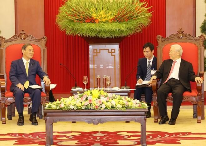 Tổng Bí thư, Chủ tịch nước Nguyễn Phú Trọng tiếp Thủ tướng Nhật Bản ảnh 3