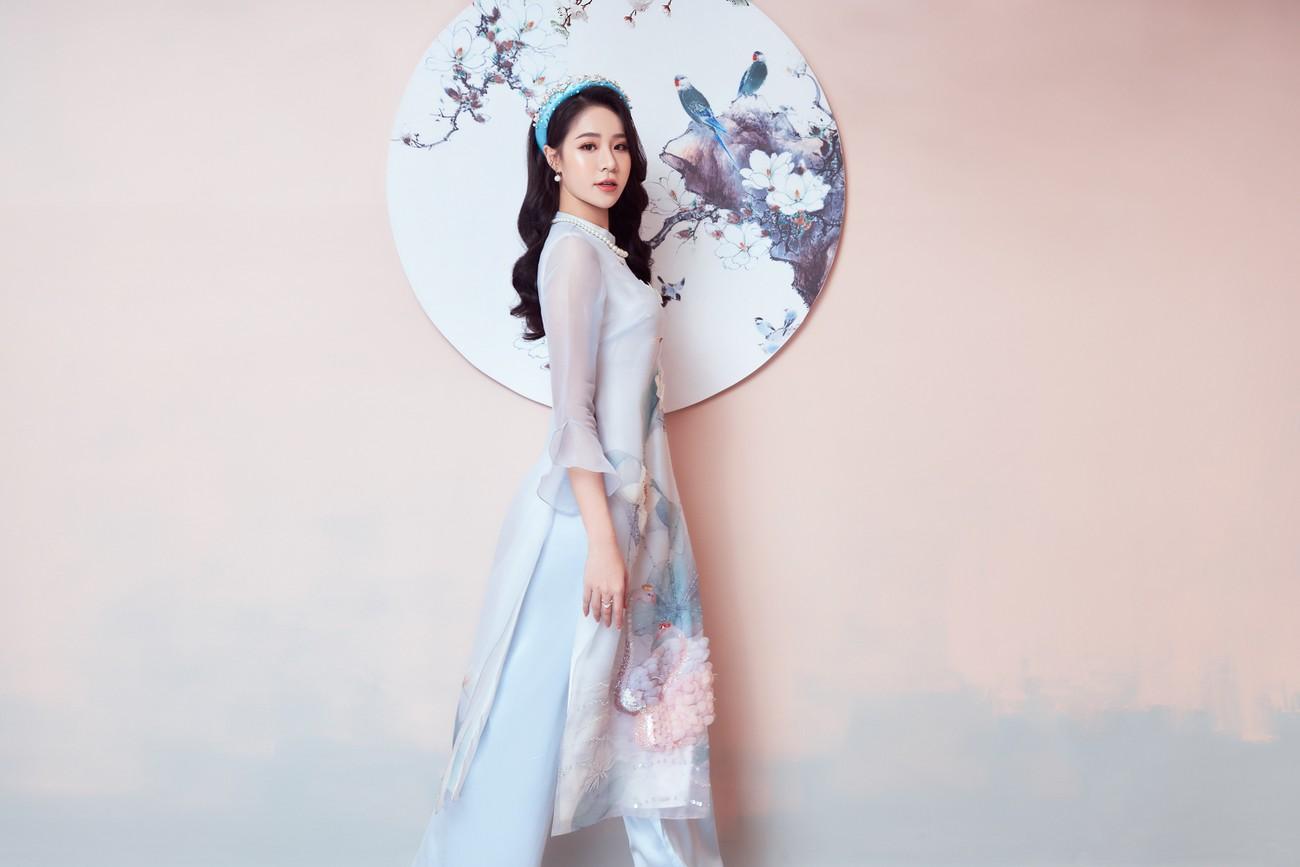 Người đẹp Biển Nguyễn Hoàng Bảo Châu đẹp 'gây mê' trong bộ ảnh áo dài đón Tết ảnh 5