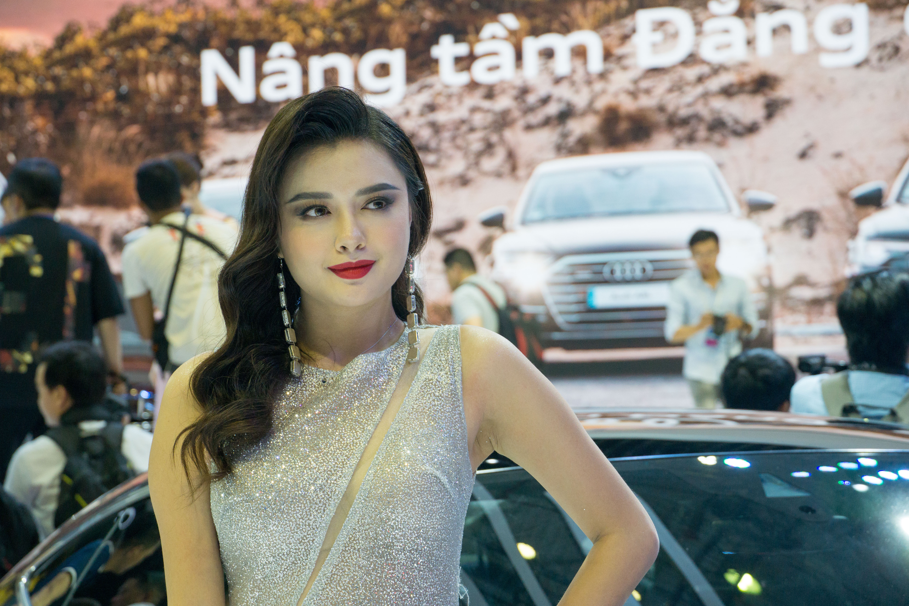 'Bóng hồng' khoe sắc tại triển lãm ôtô lớn nhất Việt Nam ảnh 6