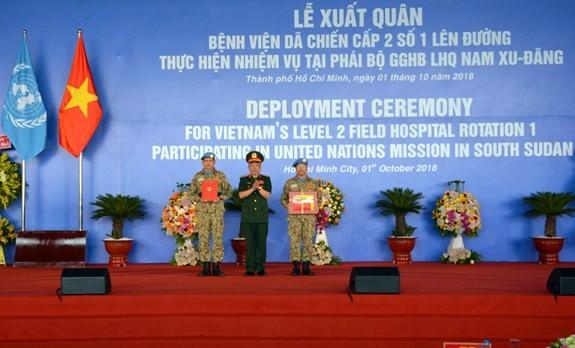 Lực lượng gìn giữ hòa bình Việt Nam xuất quân làm nhiệm vụ quốc tế ảnh 1