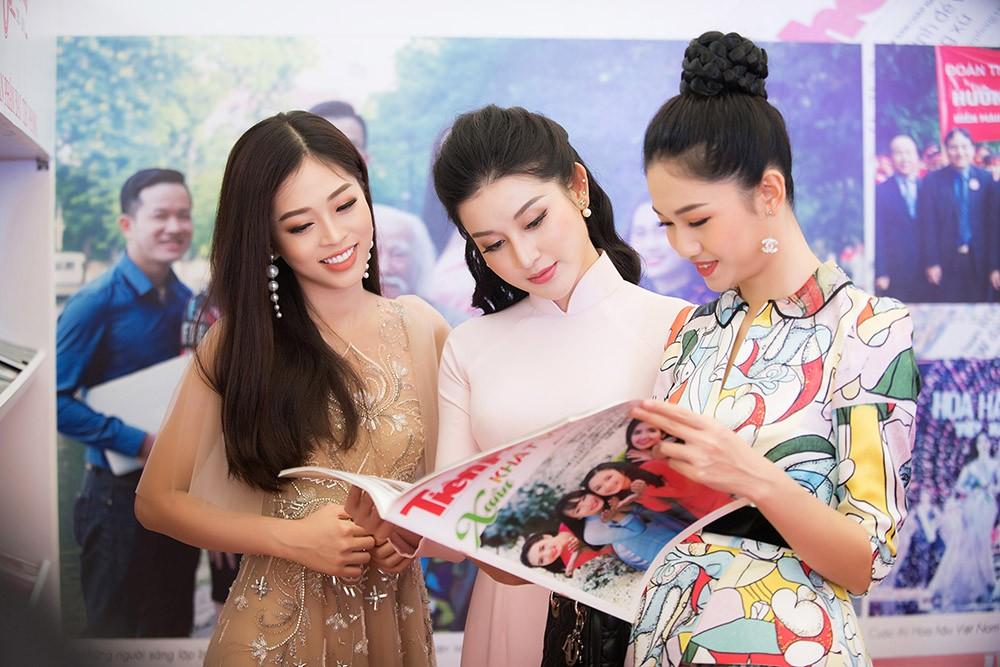 Dàn Á hậu lộng lẫy dự gặp mặt kỷ niệm 65 năm báo Tiền Phong ảnh 9
