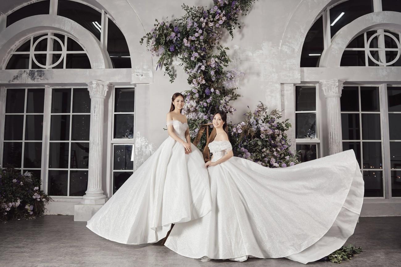 Vợ sắp cưới kém 15 tuổi của NSND Công Lý xinh đẹp lộng lẫy khi mặc váy cô dâu ảnh 9