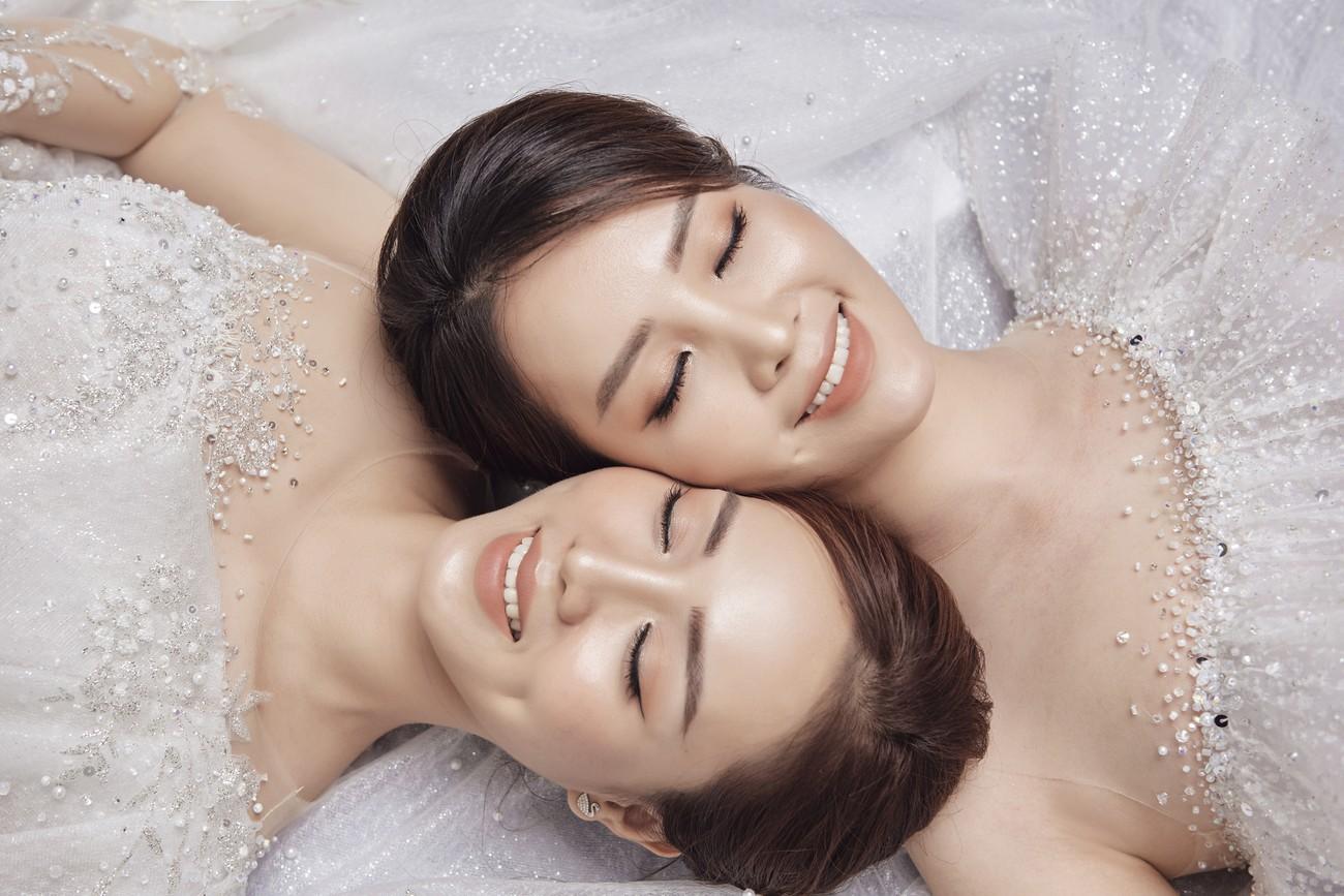 Vợ sắp cưới kém 15 tuổi của NSND Công Lý xinh đẹp lộng lẫy khi mặc váy cô dâu ảnh 11