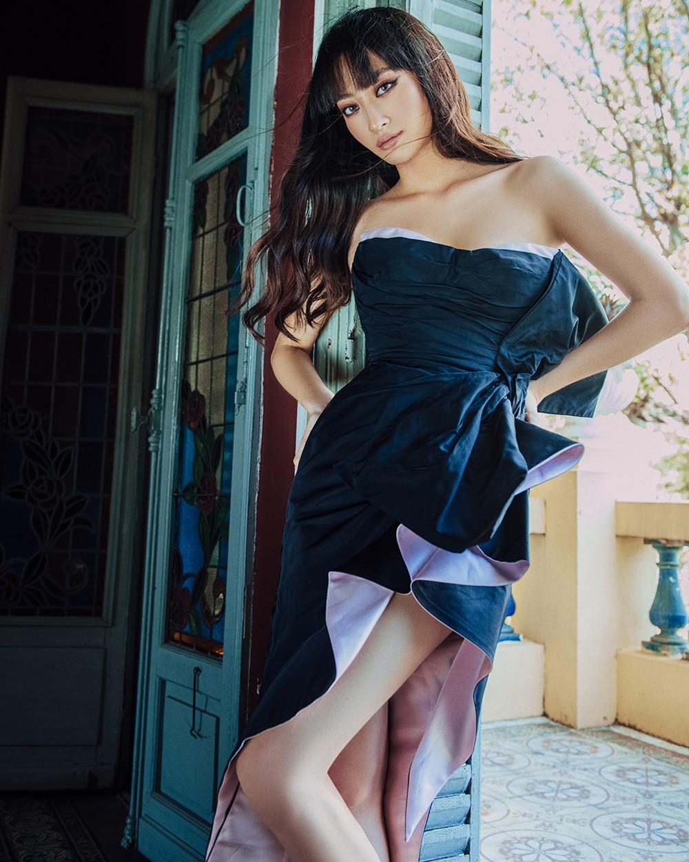 Body nuột nà và đôi chân 'cực phẩm' 1m22 của Miss World Vietnam Lương Thùy Linh ảnh 4