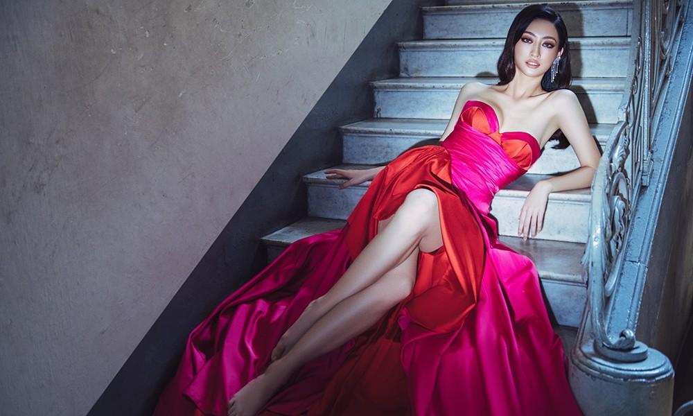 Body nuột nà và đôi chân 'cực phẩm' 1m22 của Miss World Vietnam Lương Thùy Linh ảnh 3